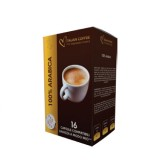100% Arabica blend - 16 Coffee Capsules A Modo Mio Compatible by Best Espresso