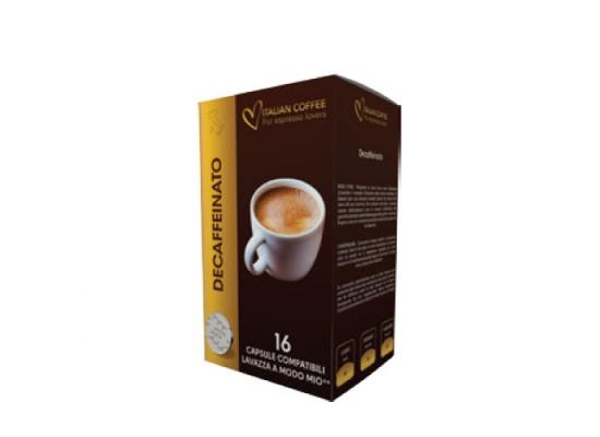 Decaffeinated  - 16 Coffee Capsules A Modo Mio Compatible by Best Espresso