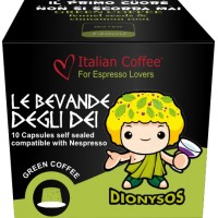 Dionysos -  Raw Green Coffee capsules  Nespresso compatible by Italian Coffee