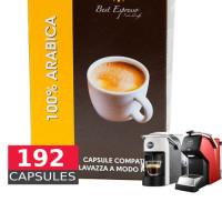 100% Arabica espresso - 192 Coffee Capsules A Modo Mio Compatible by Best Espresso