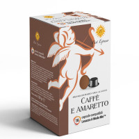 Amaretto  coffee 16 A Modo Mio Compatible coffee capsules by Best Espresso