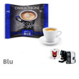 BLU  Blend 100 Don Carlo coffee capsules compatibile with A Modo Mio by Borbone