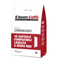 Cremoso blend - 16 Coffee Capsules A Modo Mio Compatible by Best Espresso