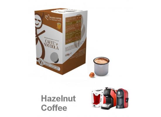 Hazelnut coffee 16 Lavazza A Modo Mio Compatible capsules by Italian Coffee