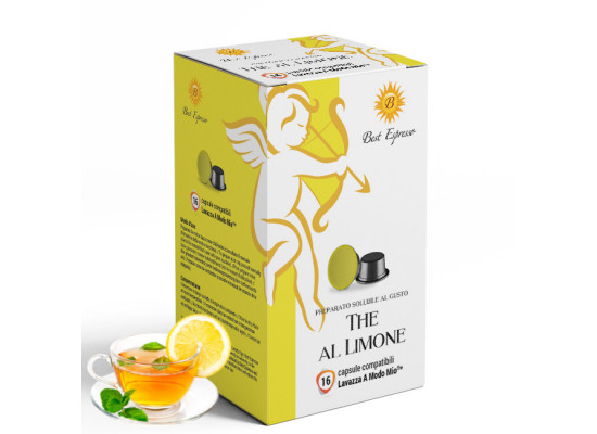 Lemon Tea - 16 A Modo Mio Compatible capsules - Italian Coffee -