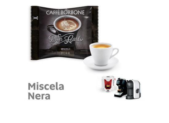 NERA Blend 100 Don Carlo coffee capsules compatibile with A Modo Mio by Borbone