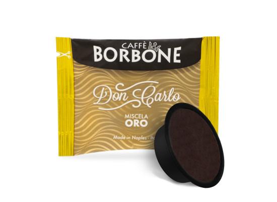 ORO (Gold) Blend 100 Don Carlo coffee capsules compatibile with A Modo Mio by Borbone