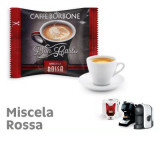 ROSSA  (Red) Blend 100 Don Carlo coffee capsules compatibile with A Modo Mio by Borbone