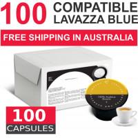 100 capsules Lavazza BLUE compatible   by Italian Coffee
