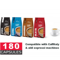 180 Caffitaly and xpressi K-fee Compatible Capsules - 44c per capsule - Pick your blend