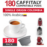 Colombia Single Origin 100% Arabica Coffee - 180 Coffee Capsules Caffitaly and Kfee Compatible