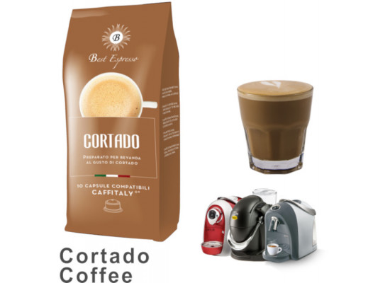 Cortado Coffee - 30 Coffee Capsules Caffitaly Compatible by Best Espresso (10x3)