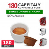 Ethiopia Single Origin 100% Arabica Coffee - 180 Coffee Capsules Caffitaly Compatible