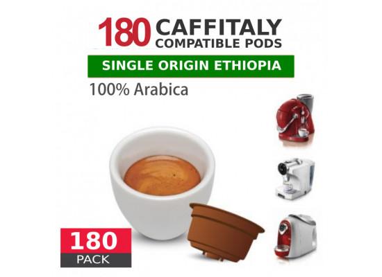 Ethiopia Single Origin 100% Arabica Coffee - 180 Coffee Capsules Caffitaly Compatible