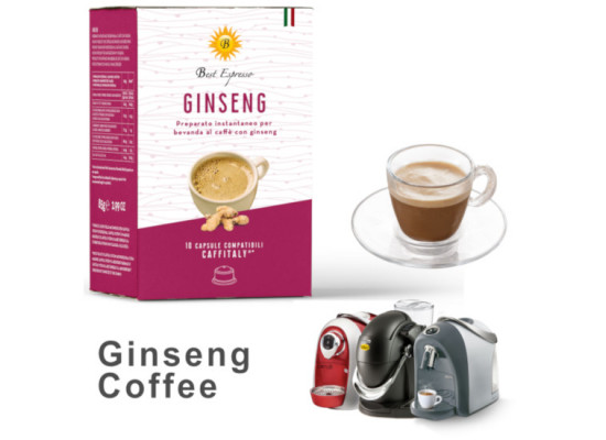 Ginseng Coffee  - 10  Coffee Capsules Caffitaly Compatible by Best Espresso
