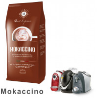 Mokaccino Coffee - 30 Coffee Capsules Caffitaly Compatible by Best Espresso (10x3)