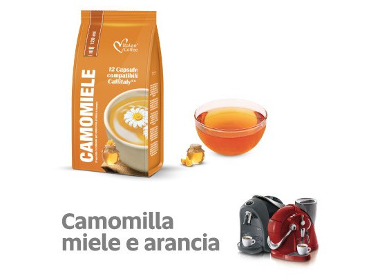 Orange Camomile Tea  - 12  Coffee Capsules Caffitaly Compatible by Italian Coffee