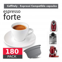 Strong Espresso 100% Robusta Coffee - 180 Coffee Capsules Caffitaly Expressi Compatible