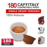 Tanzania Single Origin washed Robusta Coffee - 180 Coffee Capsules Caffitaly Compatible