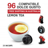 Lemon Tea - 96 Coffee Capsules Dolce Gusto Compatible by Best Espresso