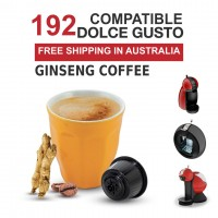 192 Capsules Dolce Gusto Compatible  - Ginseng Coffee by Best Espresso