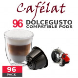 Cafélat - 96 Coffee Capsules Dolce Gusto Compatible by Italian coffee