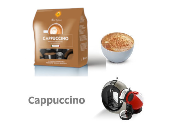Cappuccino - 12 Coffee Capsules Dolce Gusto Compatible by Italian coffee