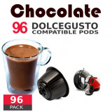 Chocolate- 96 Coffee Capsules Dolce Gusto Compatible by Italian coffee
