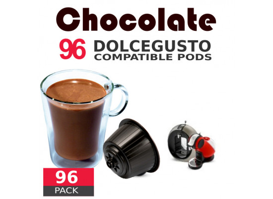 Chocolate- 96 Coffee Capsules Dolce Gusto Compatible by Best Espresso