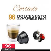 Cortado Coffee Macchiato - 96 Cortado Capsules Dolce Gusto Compatible by Best Espresso