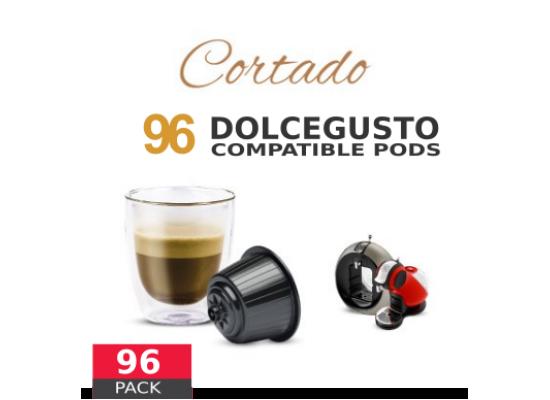 Cortado Coffee Macchiato - 96 Cortado Capsules Dolce Gusto Compatible by Italian coffee