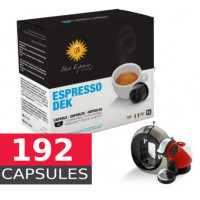 Decaf coffee - Full box of 192  Capsules Dolce Gusto Compatible by Italian coffee - 12*16