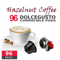Hazelnut Coffee - 96 Hazelnut  Capsules Dolce Gusto Compatible by Italian coffee