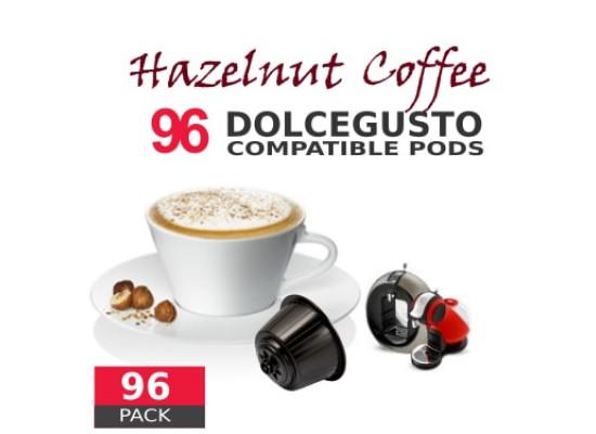 Hazelnut Coffee - 96 Hazelnut  Capsules Dolce Gusto Compatible by Italian coffee