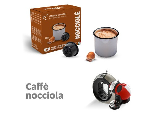 Hazelnut Coffee - 16 Hazelnut  Capsules Dolce Gusto Compatible by Italian coffee