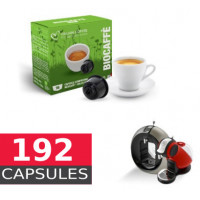 Organic Coffee  - Full box of 192  Capsules Dolce Gusto Compatible by Italian coffee - 12*16