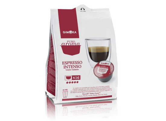 Intenso - 16 Coffee Capsules Dolce Gusto Compatible by Gimoka