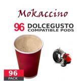 Mokaccino Coffee - 96 Mokaccino Capsules Dolce Gusto Compatible - Value Pack