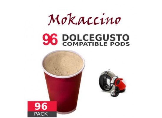 Mokaccino Coffee - 96 Mokaccino Capsules Dolce Gusto Compatible - Value Pack