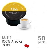 Elisir 50 capsules 100% Brazil Arabica - BLUE by Italian Coffee - Single Origin