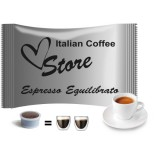 Balanced Espresso - 50 EP MAXI Compatible  double shot coffee capsules by Italian Coffee - Equilibrato