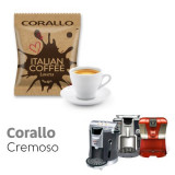 Corallo Cremoso -  50 coffee Capsule Espresso Cap compatible by Italian Coffee