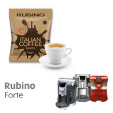 Rubino Forte -  50 coffee Capsule Espresso Cap compatible by Italian Coffee
