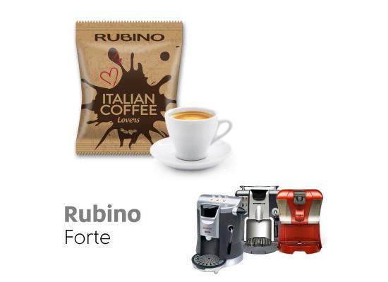 Rubino Forte -  50 coffee Capsule Espresso Cap compatible by Italian Coffee