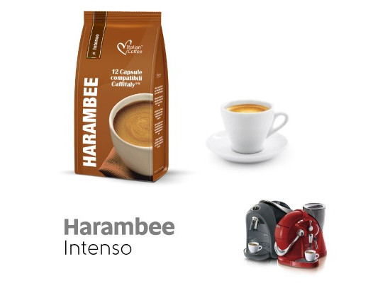 Harambee - Intenso - 12  Coffee Capsules Caffitaly Compatible by Italian Coffee