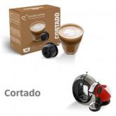Cortado Coffee Macchiato - 16 Cortado Capsules Dolce Gusto Compatible by Best Espresso