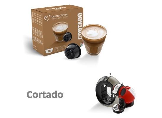 Cortado Coffee Macchiato - 16 Cortado Capsules Dolce Gusto Compatible by Italian coffee