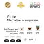 Pluto Forte coffee  25 Nespresso Compatible coffee capsules by Best Espresso