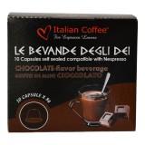 Mini Hot Chocolate  10 capsules Nespresso compatible by Italian Coffee