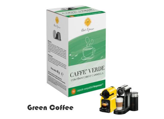 Raw Green Coffee - 16 capsules  Nespresso compatible by Best Espresso